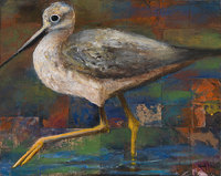 Greater Yellow Legs, 16 x 20 inches, acrylic on sandpaper/panel SOLD