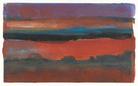 Sunset # 2, 10 x 16 inches,mixed media monotype