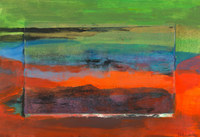Sunset # 5, 15 x 22 inches, monotype and acrylic on paper