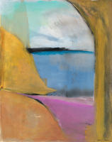 Vista at Lucy, image 20 by 16, framed 30.5 by 26. acrylic on paper