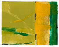 Bright Sunlight at Lucy, 20 by 15.5 image, 26 by 30 framed, acrylic on paper