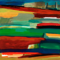 West Side Highway, 36 by36 inches, acrylic on panel, SOLD
